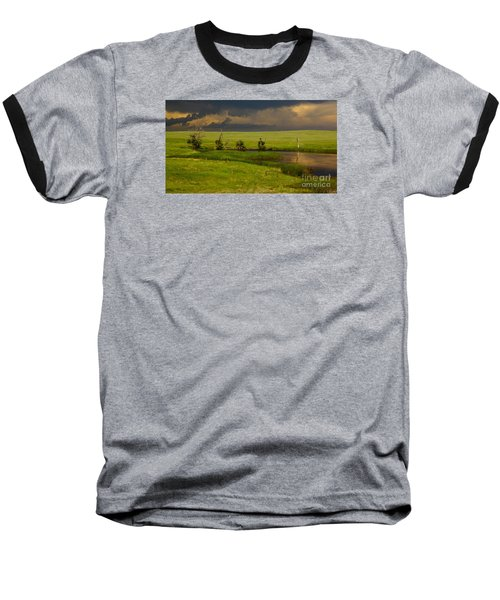 Storm Crossing Prairie 1 Baseball T-Shirt