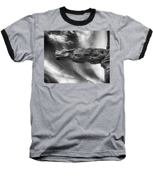Storm Dragon Baseball T-Shirt by Diana Haronis
