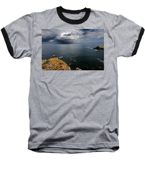 A Mediterranean Sea View From Sa Mesquida In Minorca Island - Storm Is Coming To Island Shore Baseball T-Shirt