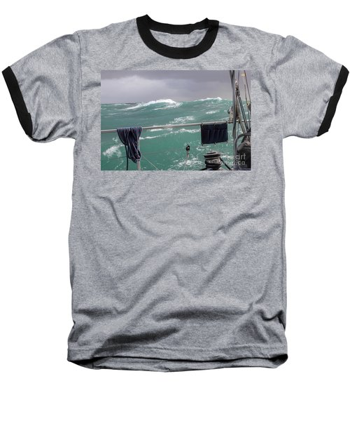 Storm On Tasman Sea Baseball T-Shirt