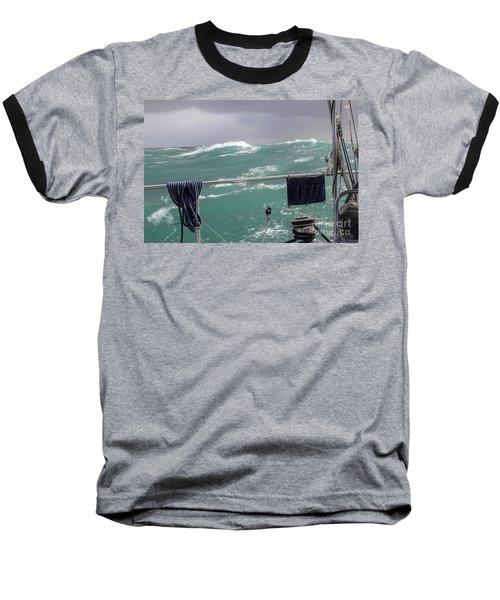 Storm On Tasman Sea Baseball T-Shirt by Jola Martysz