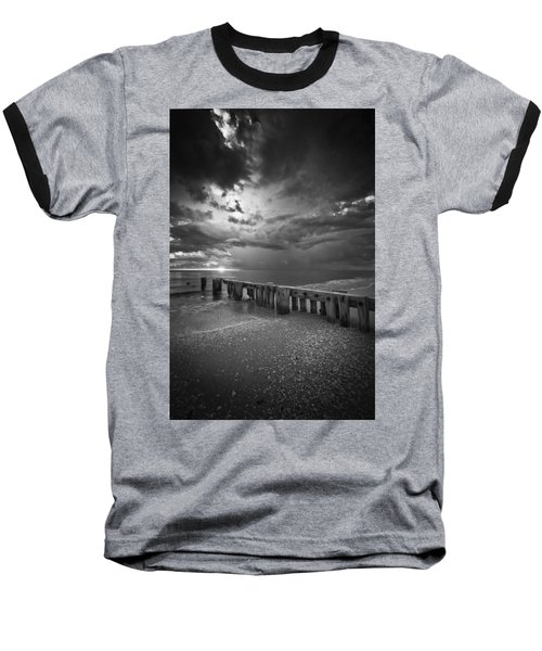 Storm Over Naples Florida Beach Baseball T-Shirt