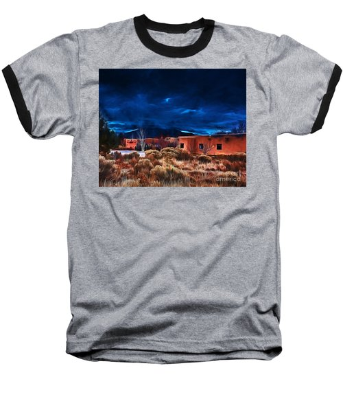 Storm Over Taos Lx - Homage Okeeffe Baseball T-Shirt