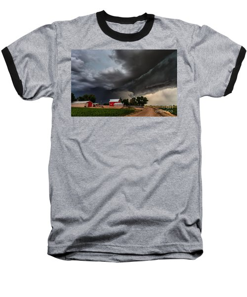 Storm Over The Farm Baseball T-Shirt by Steven Reed