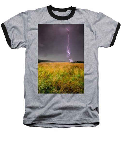 Storm Over The Wheat Fields Baseball T-Shirt by Eti Reid