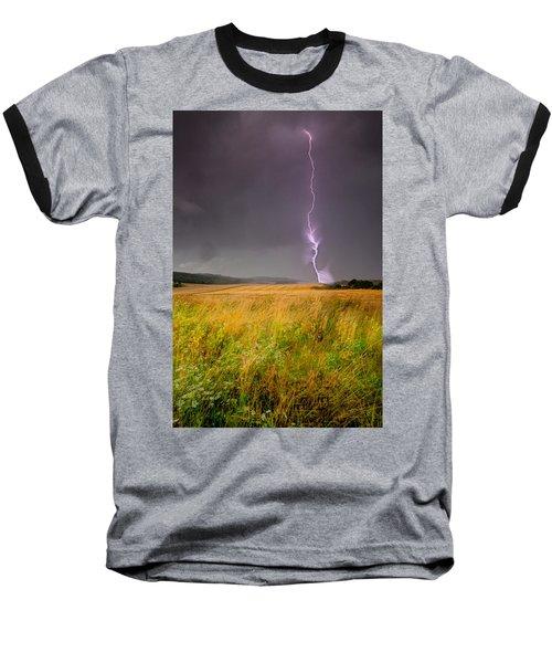 Storm Over The Wheat Fields Baseball T-Shirt