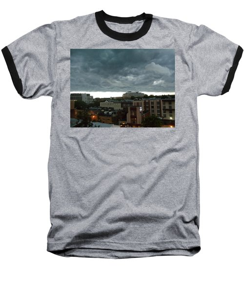 Baseball T-Shirt featuring the photograph Storm Over West Chester by Ed Sweeney