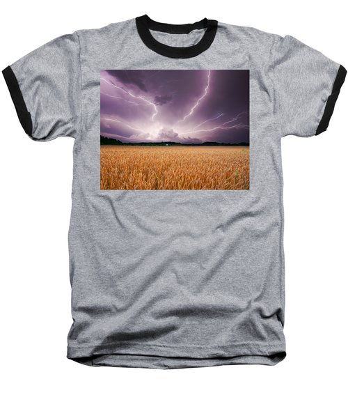 Storm Over Wheat Baseball T-Shirt by Alexey Stiop