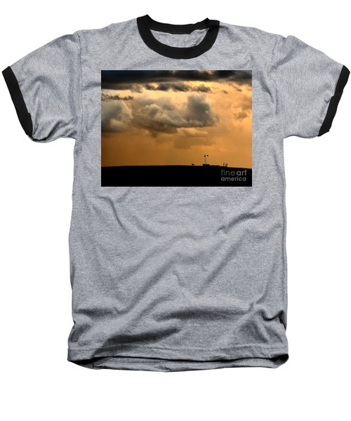 Storm's A Brewing Baseball T-Shirt by Steven Reed