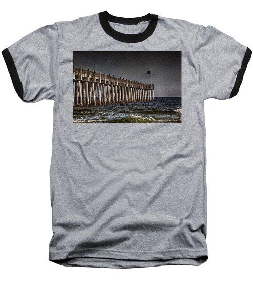 Stormscape Baseball T-Shirt by Sennie Pierson