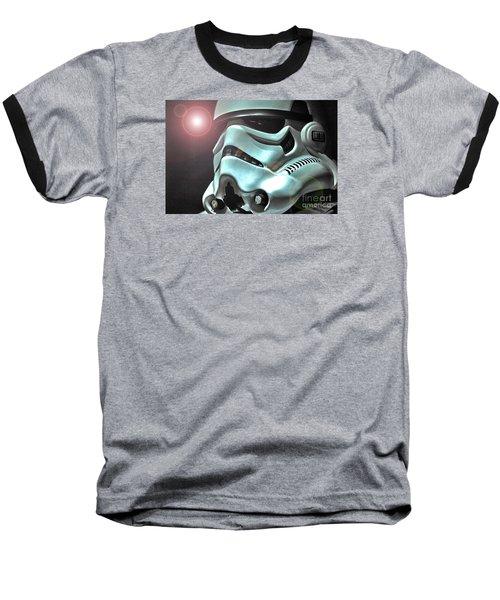 Stormtrooper Helmet 27 Baseball T-Shirt by Micah May