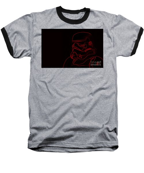Baseball T-Shirt featuring the digital art Stormtrooper In Red by Chris Thomas