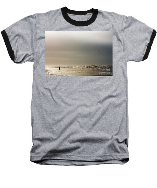 Stormy Beach Baseball T-Shirt