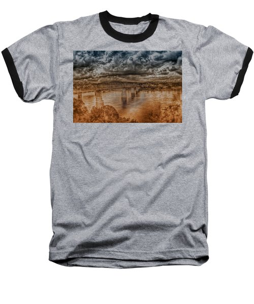 Stormy Clouds Baseball T-Shirt