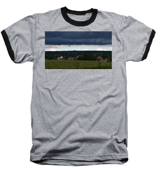 Stormy Countryside Baseball T-Shirt