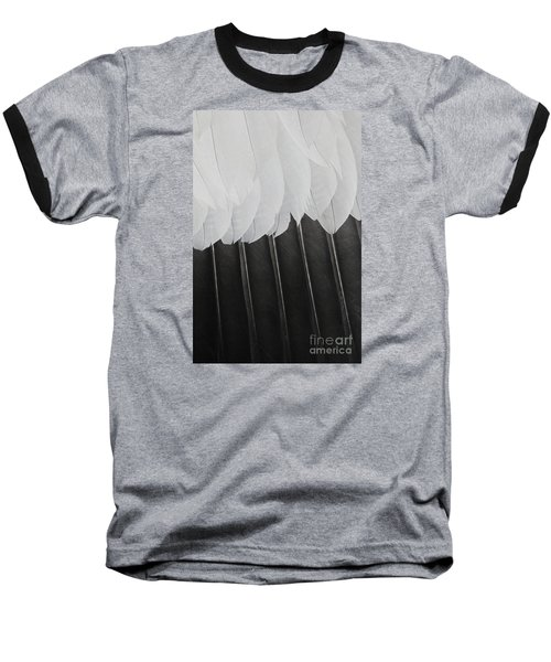Stormy Feathers Baseball T-Shirt by Judy Whitton