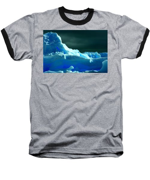 Baseball T-Shirt featuring the photograph Stormy Icebergs by Amanda Stadther