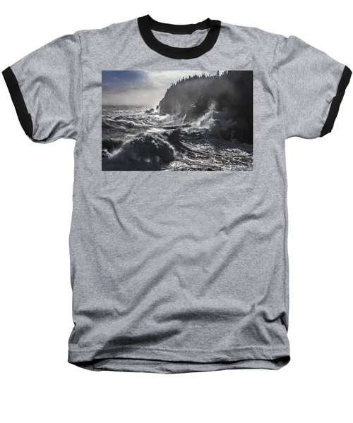 Stormy Seas At Gulliver's Hole Baseball T-Shirt
