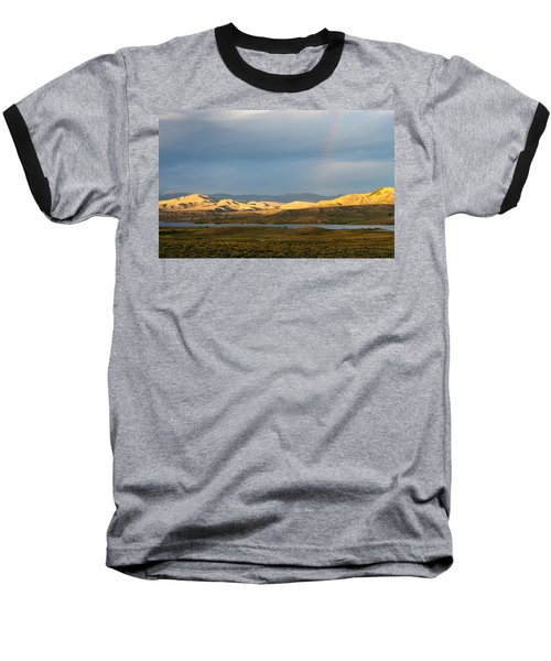Stormy Sky With Rays Of Sunshine Baseball T-Shirt by Nadja Rider