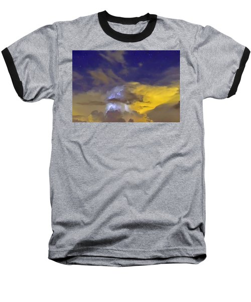 Baseball T-Shirt featuring the photograph Stormy Stormy Night by Charlotte Schafer