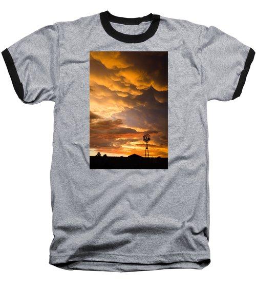 Stormy Sunrise Baseball T-Shirt