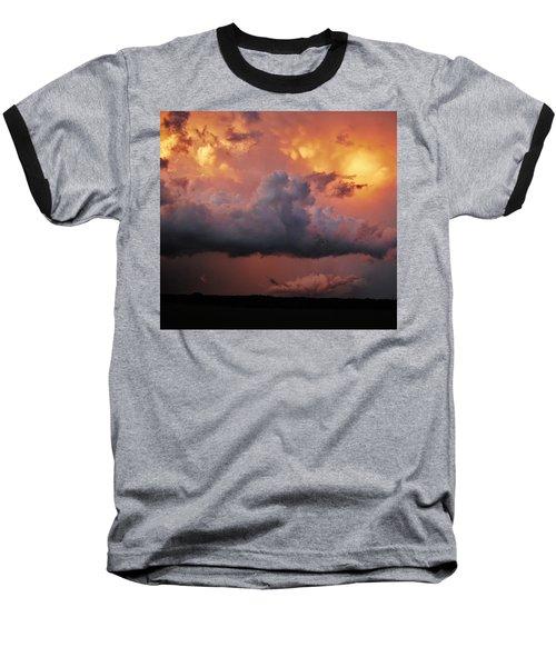 Stormy Sunset Baseball T-Shirt by Ed Sweeney