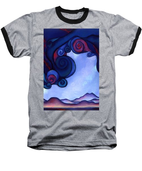 Baseball T-Shirt featuring the pastel Stormy by Susan Will