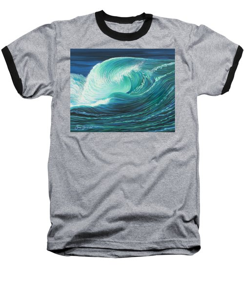 Stormy Wave Baseball T-Shirt