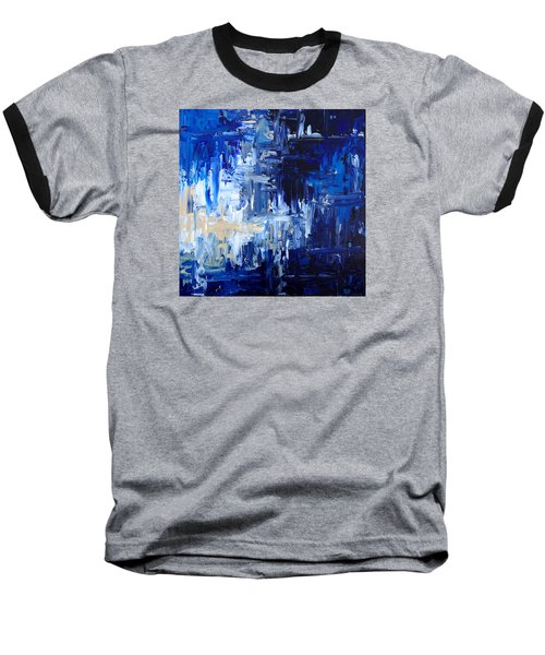 Stormy Waves Baseball T-Shirt by Rebecca Davis