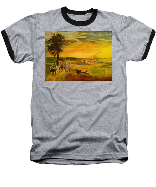 Story Baseball T-Shirt by Mary Ellen Anderson