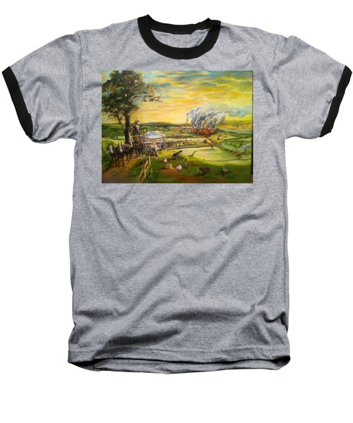 Story2 Baseball T-Shirt by Mary Ellen Anderson