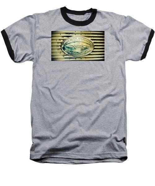 Stout Metal Airplane Co. Emblem Baseball T-Shirt by Susan Garren