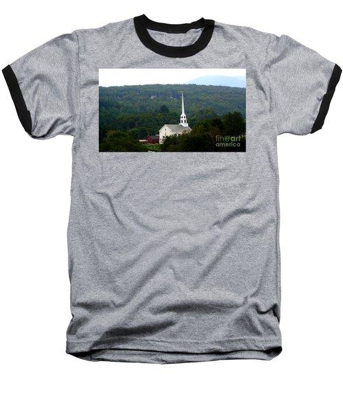 Baseball T-Shirt featuring the photograph Stowe Community Church by Patti Whitten