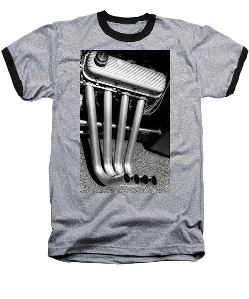 Straight Pipes - Chevrolet Engine Headers Baseball T-Shirt by Steven Milner