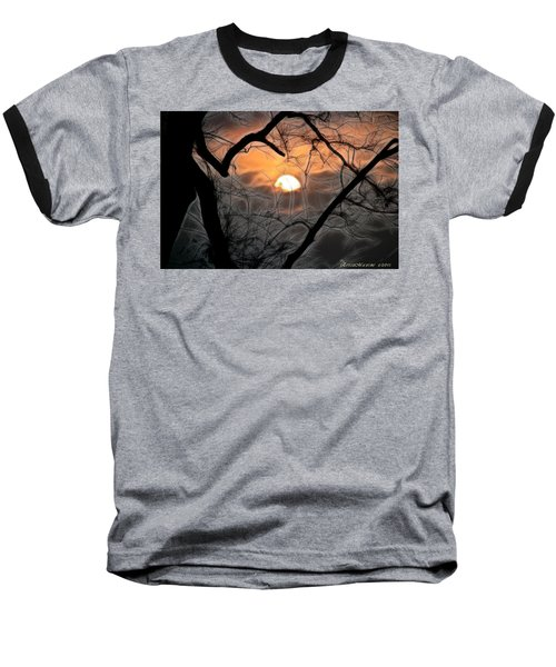 Baseball T-Shirt featuring the photograph Strange Morning by EricaMaxine  Price