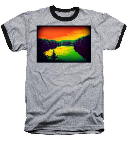 Strange River Scene Baseball T-Shirt
