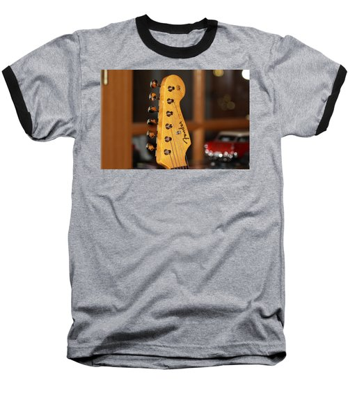 Stratocaster Headstock Baseball T-Shirt by Chris Thomas