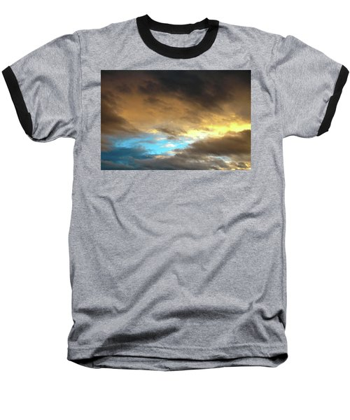 Stratus Clouds At Sunset Bring Serenity Baseball T-Shirt