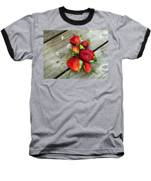 Baseball T-Shirt featuring the digital art Strawberrries by Valerie Reeves