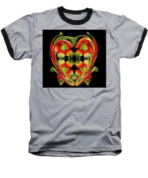 Strawberry Heart Baseball T-Shirt
