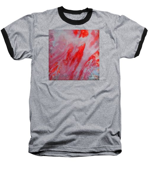 Baseball T-Shirt featuring the painting Strawberry Ice Cream by Dragica  Micki Fortuna
