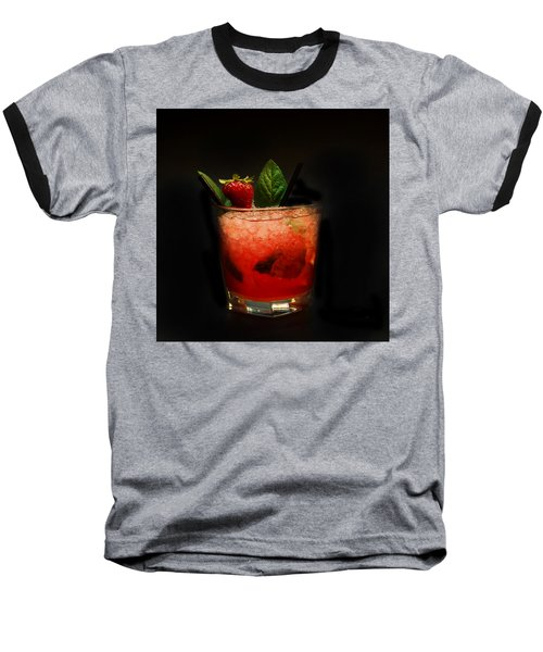 Strawberry Mojito Baseball T-Shirt