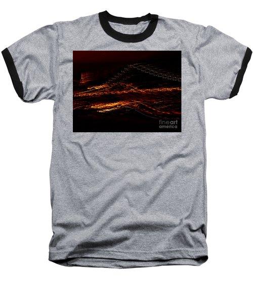 Streaks Across The Bridge Baseball T-Shirt by Paulo Guimaraes