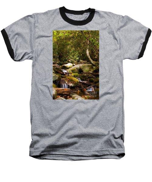 Stream At Roaring Fork Baseball T-Shirt