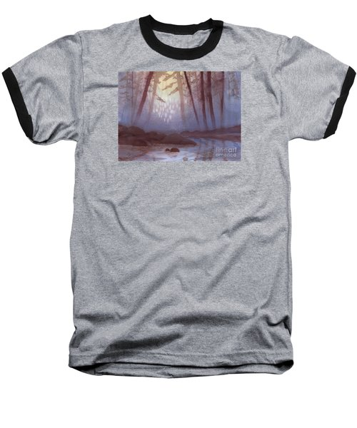 Stream In Mist Baseball T-Shirt