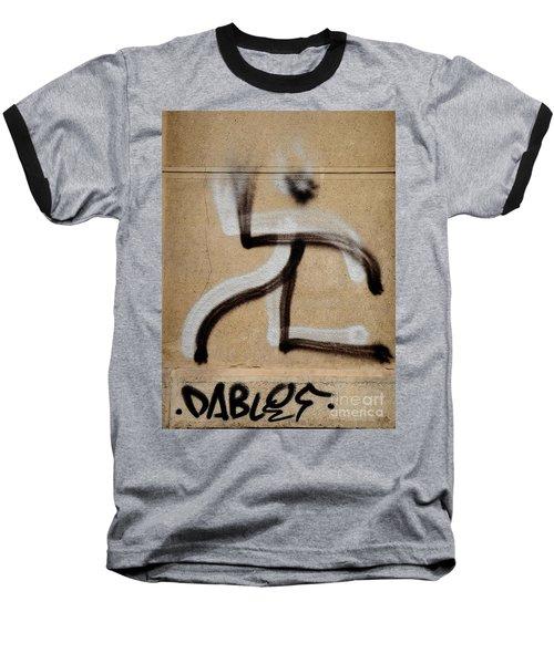 Baseball T-Shirt featuring the photograph Street Art 'dablos' Graffiti In Bucharest Romania  by Imran Ahmed