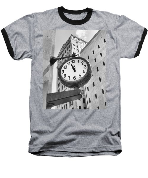 Street Clock Baseball T-Shirt