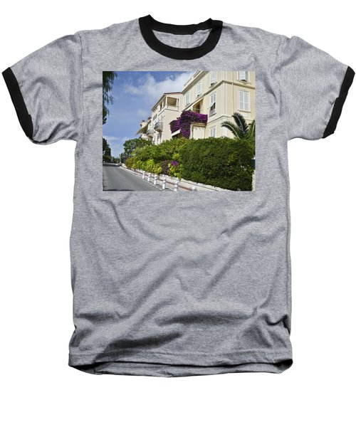 Baseball T-Shirt featuring the photograph Street In Monaco by Allen Sheffield