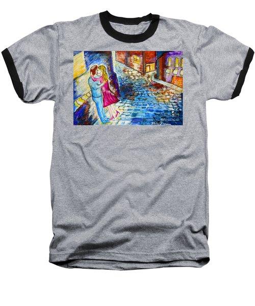 Street Kiss By Night  Baseball T-Shirt
