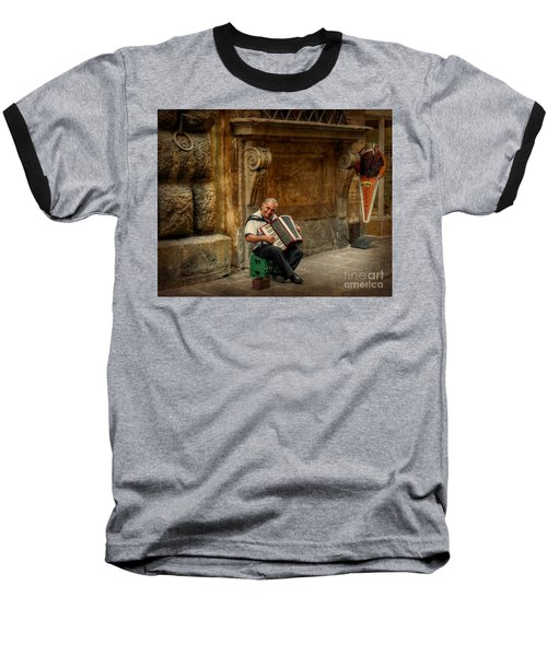 Street  Music Baseball T-Shirt by Valerie Reeves
